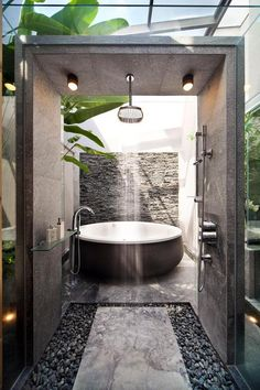 20 nature-inspired bathrooms that will refresh you Home design and interior, . - 20 nature-inspired bathrooms that will refresh you Home design and interior, - Hotel Bathroom Design, Bathroom Renovations, Modern Bathroom, Nature Bathroom, Cool Bathroom Ideas, Bathtub Ideas, Industrial Bathroom, Minimalist Bathroom, White Bathroom