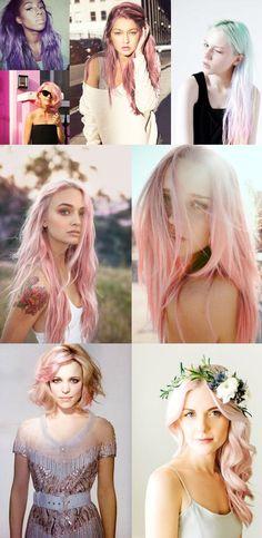 Estamos in love pelos tons patel colorindo o cabelo. Rosa, azul, lavanda ou verde bem suave deixa tudo bem algodão doce.