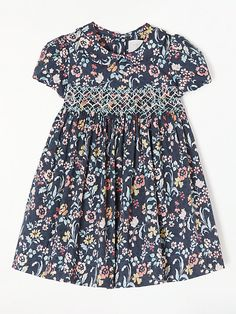 Buy John Lewis & Partners Heirloom Collection Baby Floral Crochet Smock Dress, Navy from our Baby & Toddler Dresses & Skirts range at John Lewis & Partners. Toddler Dress, Toddler Outfits, Toddler Girls, Kids Girls, Smoking, Girls Smocked Dresses, Little Girl Outfits, Smock Dress, Kids Fashion