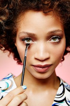 """This Makeup Secret Changes Everything  #refinery29  http://www.refinery29.com/how-to-use-fan-brush#slide-5  And it couldn't be better for defining the lower lashline, either. """"When using a mascara wand on the bottom lashes, you tend to get a poke-y effect or you can get it on the skin,"""" says Paré. """"With a fan brush, it's soft and you get slight definition without drawing attention to any darkness in that area."""" Simply push it right up to the base of the bottom lashes and carefully pull it…"""