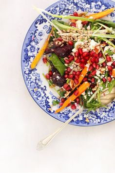 Roasted Root Vegetables & Pomegranate Salad