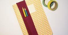 Heute gibt's eine winzige Anleitung für einen Stiftehalter, der am Notizbuch oder Kalender befestigt werden kann.  Geht ganz fix und ist un...