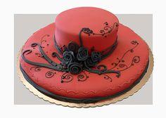 Red hat beautiful cake design