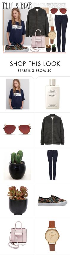 """Vintage."" by cece-cherry ❤ liked on Polyvore featuring Pull&Bear, Chanel, Ray-Ban, Topshop, Lux-Art Silks, Vans, Rebecca Minkoff, Olivia Burton, vintage and women's clothing"