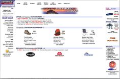Cotswold Outdoor - 2002 website screenshot