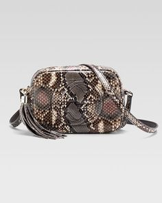 Soho Python Disco Bag by Gucci at Bergdorf Goodman.