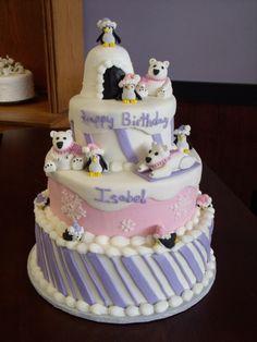 Adorable winter birthday cake!