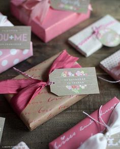 Sweet Vintage Valentine's Day Gift Tags Just for You Vintage Valentines, Valentine Crafts, Valentine Day Cards, Noel Christmas, Christmas Wrapping, Pretty Packaging, Gift Packaging, Gift Wrap Box, Stationery Craft