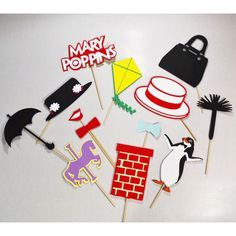 Mary poppins 13 pc party props set mary poppins by LeStudioRose