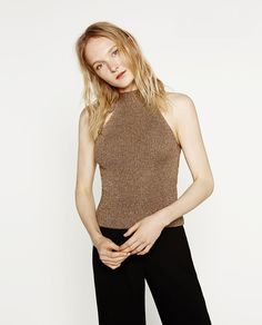 Fashion Sexy Hanging Neck Women Vest 2016 Europe Spring Pure Color Cotton  Knitted Vest Short Quality Sweater Camis Tank Tops
