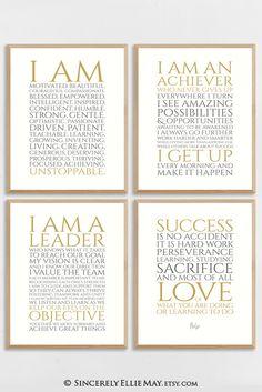 Instant downloads, set of 4 digital prints #digitalprints #motivate #motivation #inspired #success #unstoppable #leader #etsywallart Printable Designs, Printable Wall Art, Positive Mindset, Positive Quotes, Working Woman, Business Motivation, Fitness Motivation, Digital Prints, Motivational Quotes