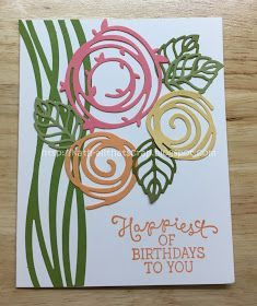 Created By Kath: Watercooler Wednesday Challenge 112 - Anything Goes Challenge Birthday Cards For Women, Handmade Birthday Cards, Happy Birthday Cards, Greeting Cards Handmade, Happy Birthdays, Su Swirly Scribbles, Stampin Up, Bird Cards, Stamping Up Cards