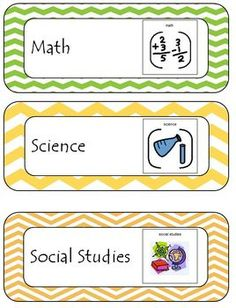 Free Daily Class Schedule Cards With Pictures