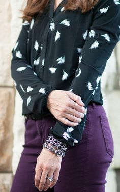 It's all in the details. Liz Claiborne jet black cluster and crystal silver-tone stretch bracelets
