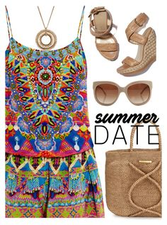 """Summer Date"" by rasa-j ❤ liked on Polyvore featuring Camilla, Stuart Weitzman, STELLA McCARTNEY, ViX, Kenneth Cole, summerdate and rooftopbar"