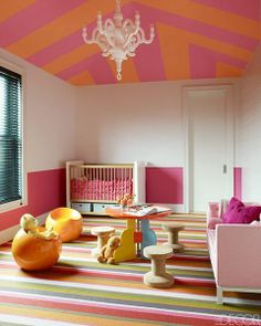 Pink baby girl room