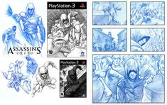 Assassins Creed Character Storyboard Illustration - Search similar styles, portfolios and artists on the illustration agent website. Website Illustration, Illustration Story, Character Illustration, Storyboard Examples, Game 2d, Milk Splash, Photo Retouching, 3d Animation, Assassins Creed