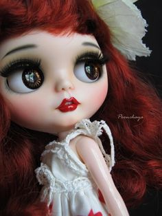 Laura by Custom Blythe with Love / Poonchaya #collectables #crafts #handmade…