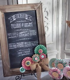 Show your guests what's on the menu with a DIY chalkboard tutorial.
