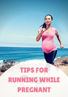 The U.S. Department of Health recommends healthy women who become pregnant (non-exercisers and moderate exercisers) should begin or continue moderate intensity aerobic activity during pregnancy, accumulating around 150 minutes a week.  Tips for Running While Pregnant http://www.activekids.com/parenting-and-family/articles/tips-for-running-while-pregnant