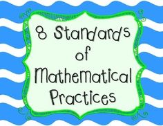 Print off these 8 mathematical practices from Common Core and display them in your classroom. Teach your students how to apply these… Mathematical Practices Posters, Mathematics, Math Resources, Math Activities, Fourth Grade Math, Math Workshop, Math Stations, Classroom Themes, Dollar Tree