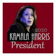 Kamala Harris President 2020 Poster - attorney lawyer business personalize unique counsel