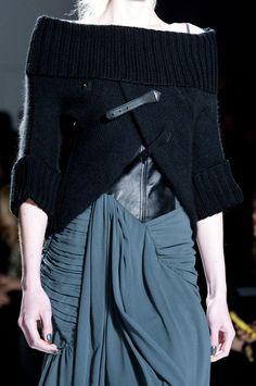 Fashion Details - wrap, fold, gather, drape - a beautiful mix of line and texture  // Nicholas K Fall 2013