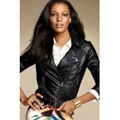 Leather jackets are in fashion these days. See leather jackets for women winter here. The pictures of the latest trendy leather jackets are here. Winter Date Night Outfits, Jasmine Tookes, Glamour, Jackets For Women, Clothes For Women, Faux Leather Jackets, Faux Jacket, Fashion Online, Fashion News