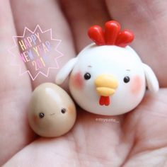 """Happy New Year! Since it's the Year of the Rooster , I made a rooster and an egg. I'm planning to be back to be more active for 2017, but we'll see how long I'll be back for bc I don't want to get my own hopes up oh and I changed my name from otakuuchan to mycoto. I feel like it doesn't fit me anymore, so mycoto stands for """"my Coco and Toby"""" which are my puppies I loveeee very much. Also, I have some motivation and ideas in mind now, finally. I hope all of you have a great year! Stay saf..."""