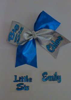 Big Sis Little Sis Cheer Bows Personalized  2 by SportingPrideBows