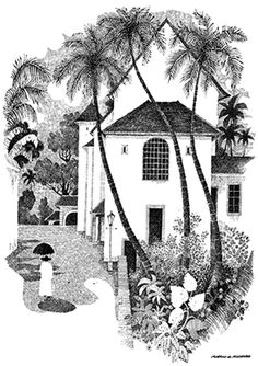 The works of Mario de Miranda - the renowned cartoonist from Goa - as a wall art. Francis Xavier, St Francis, Goa, Mario Miranda, Art Sketches, Pen Sketch, Indian Artist, Online Art Gallery, Doodle Art