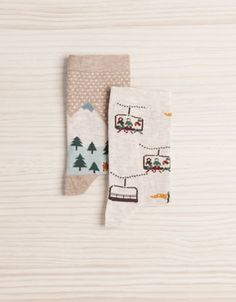 Pack of landscape pattern socks - Socks - Accessories - Spain