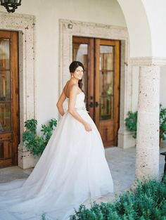Gorgeous bride: http://www.stylemepretty.com/2015/03/30/fall-palm-springs-estate-wedding/ | Photography: Lane Dittoe - http://lanedittoe.com/