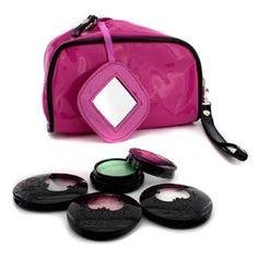 Anna Sui Набор Теней для Век: 3х Тени для Век Акцент + 1х Блеск для Век + Розовая Косметичка 4pcs+1bag