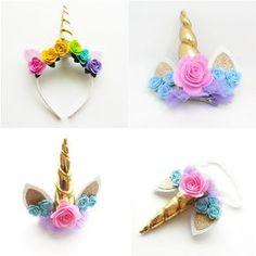 Unicorn Headband, Clip, or stretch hairband