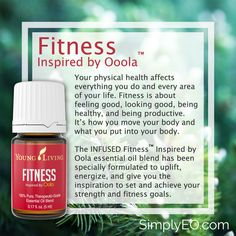 Fitness™ Inspired by Oola essential oil blend has been specially formulated to uplift, energize, and give you the inspiration to set and achieve your strength and fitness goals.
