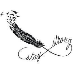 Feather Infinity Temporary Tattoo (Set of 2) - Stay Strong