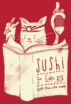 Sushi for Cats Art Print