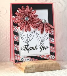 Debbie's Designs: June FREE Card Kit for ordering through my Online Store. I used the Daisy Punch, Daisy Delight stamp set and Pick A Pattern Designer Paper. Debbie Henderson. #daisy #daisydelight #daisypunch #stampinup #debbiehenderson #debbiesdesigns #freekit