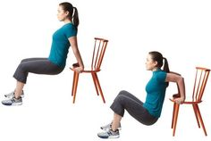 Triceps Dips Using Chair