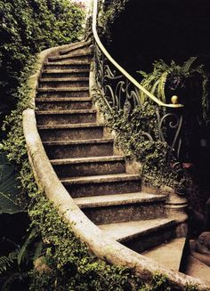 40 Cool Garden Stair Ideas For Inspiration - Stairs - Garden / Yard