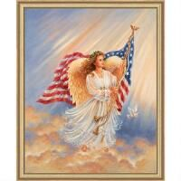 Heaven and Earth Designs American Angel Counted Cross-Stitch Chart