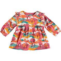 Rockin' Baby Rosa Animal Print Ruffle Top