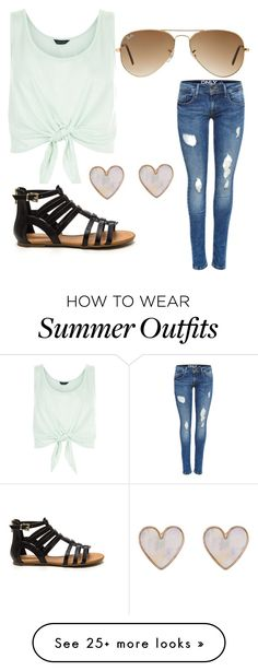 """""""Perfect casual summer outfit"""" by hjoy-1 on Polyvore featuring New Look and Ray-Ban"""