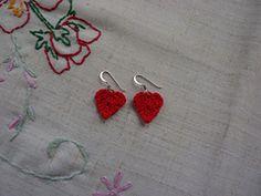 Ravelry: Sweetheart Earrings pattern by Janet McMahon
