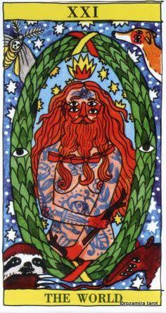 XXI. The World - Tarot del Fuego by Ricardo Cavolo