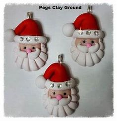 1000+ ideas about Polymer Clay Christmas on Pinterest | Air dry clay, Air drying clay and ...
