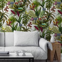 Are you interested in our tropical animal wallpaper? With our botanical jungle wallpaper you need look no further.