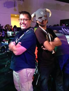 Creative Director Paul Sage and ESO fan Killerbean509 ready to take on the Daedric forces.