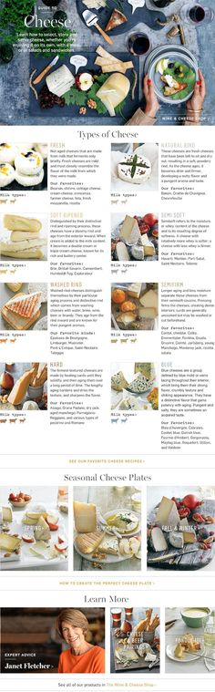 With such a large array of cheeses in the world, learn how to select and choose which is best for you